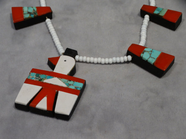 Santo Domingo Pueblo Battery Bird Necklace