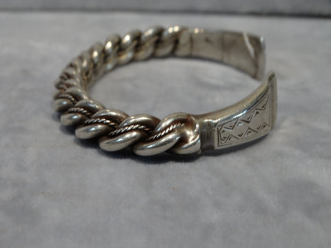 Navajo Men's Twisted Silver Link Cuff