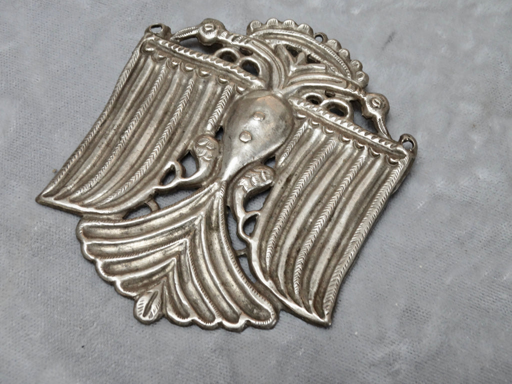 Antique Mexican Double Headed Bird Brooch c 1920