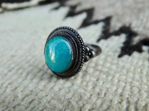 19th Century Persian Silver and Turquoise Ring