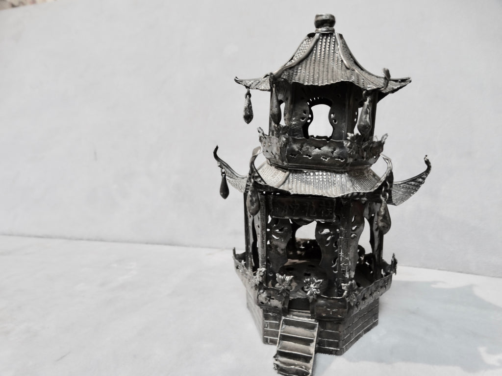 19th Century Chinese Silver Incense Burner
