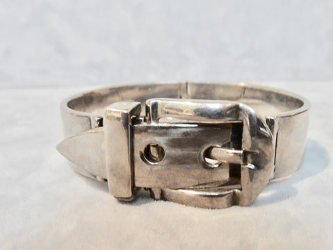 Rare Antonio Fallaci for Gucci Articulated Buckle Bangle in 925 Silver