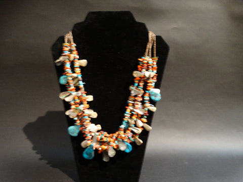 Daniel Coriz Santo Domingo Pueblo Multi-Strand Necklace