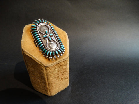 Zuni Vincent, Socorro Johnson Turquoise and Silver Ring