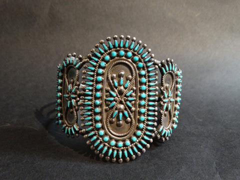 Zuni Vincent, Socorro Johnson Silver and Turquoise Cuff