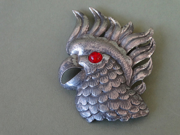 Mexican Silver Parrot Head J297