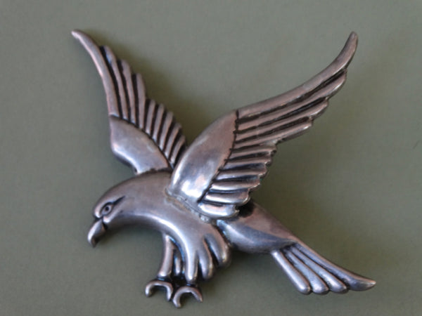 Mexican Silver Eagle Brooch