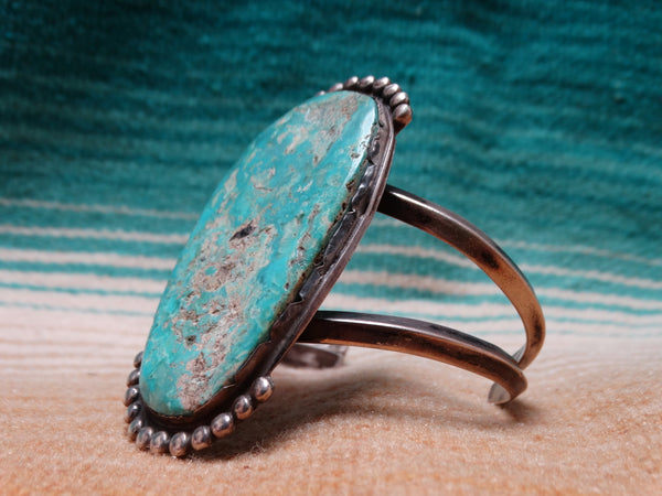 Turquoise and silver bracelet/cuff