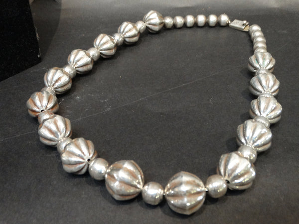 Mexican Silver Bauble Beads - strand