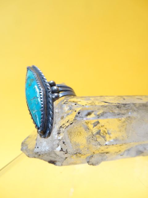 Navajo Turquoise and Silver Ring Size 6.5