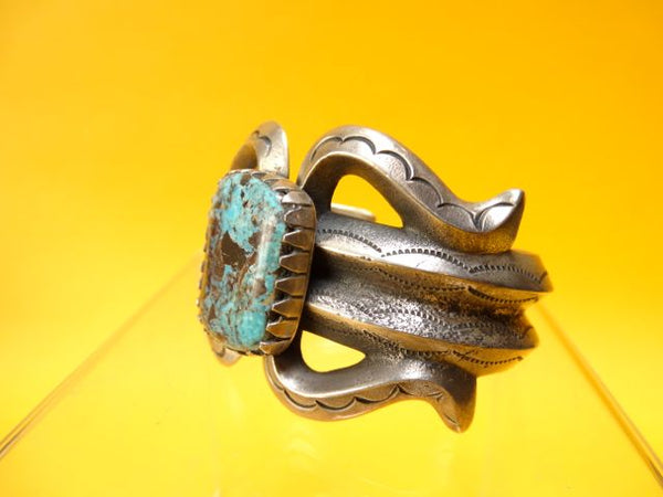 Navajo Turquoise and Silver Cuff