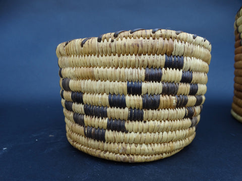 1930s Checkerboard Design Native American Basket
