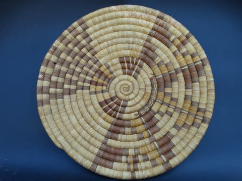 Hopi Coiled Wall Plaque in Brown Tones