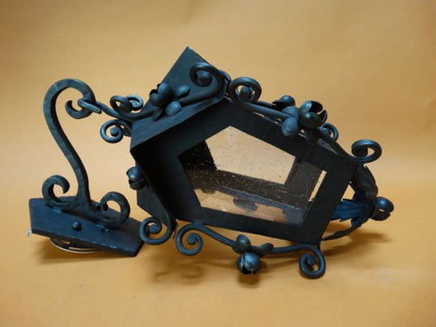 Custom Spanish Revival Wrought Iron Porch Light