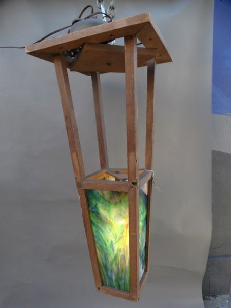 Wooden Stained Glass Lantern