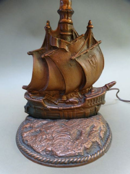 Ship Lamp With Orange Shade