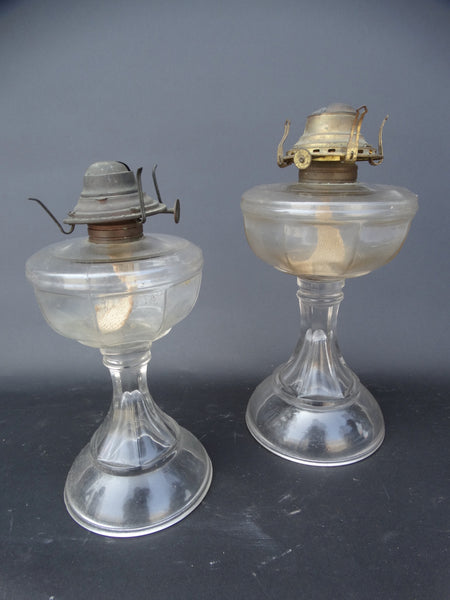 Two Queen Anne Kerosene Lamps