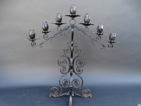 Spanish Revival Wrought Iron Candelabra