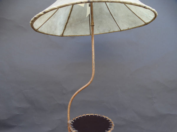 Monterey Floor Lamp with Leather Table