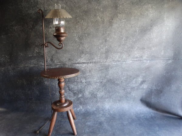 Monterey Furniture Milk Stool Floor Lamp c 1931
