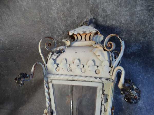 Spanish Revival Hanging Lantern with Spanish Cross Bottom Finial L666