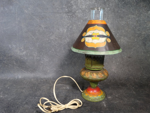 Monterey Painted Wrought Iron Table Lamp c 1929 L672