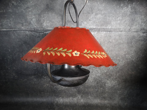 Monterey Style Ceiling Fixture Hand-Painted Metal Shade 1920s L679