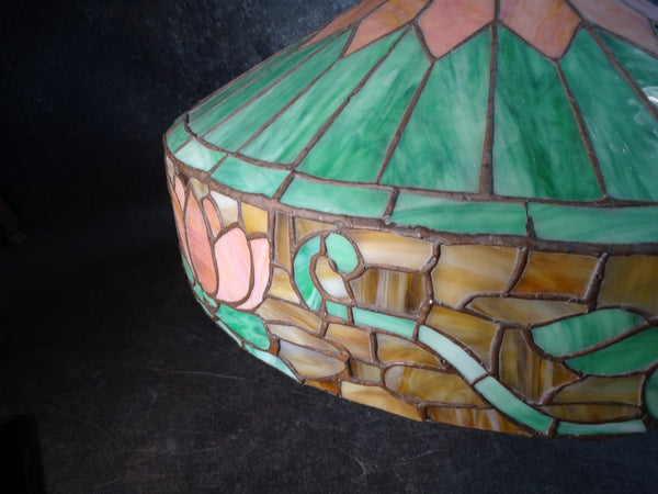 Arts & Crafts Stained Glass Leaded Shade L681