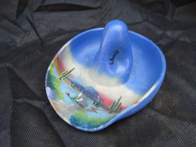 Mexican Sombrero Ashtray (blue)