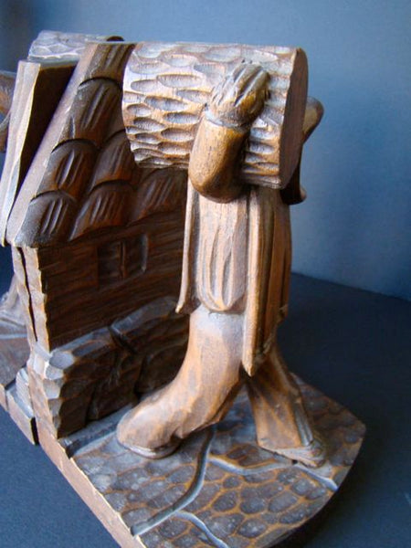 Pair of Mexican Hand Carved Bookends