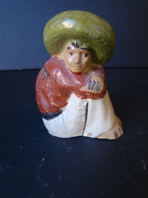 Sitting Mexican Pottery Salt Shaker