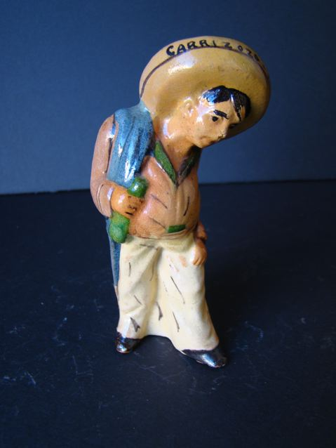 Standing Mexican Pottery Pepper Shaker