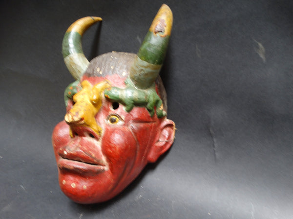 Mexican Horned Creature Mask - with Lizards
