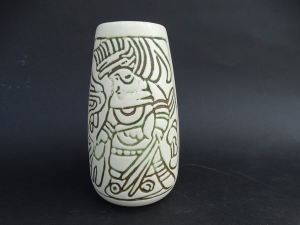 Aztec/Mayan Made in USA Vase