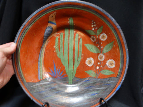 Mexican Tlaquepaque Shallow Bowl