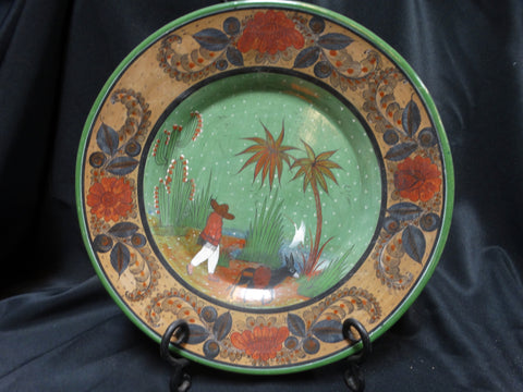 Mexican Tlaquepaque Green Plate