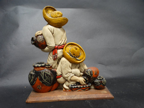 Mexican Figurine of Potters at Work