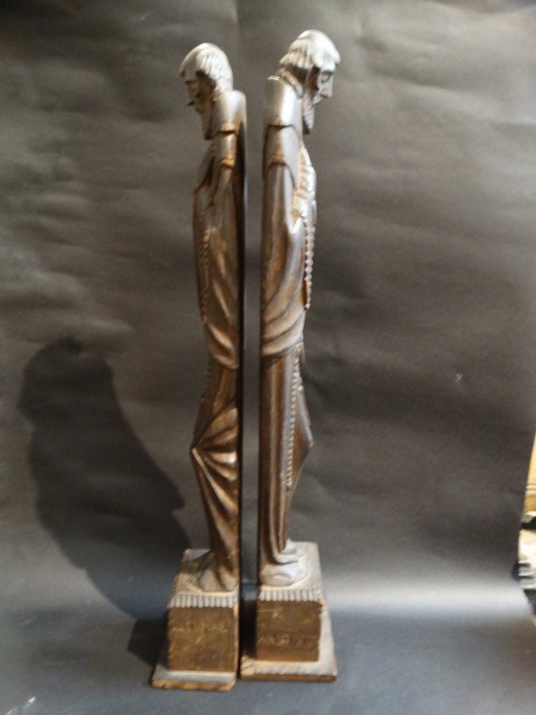 Mexican Handcarved Saints - pair