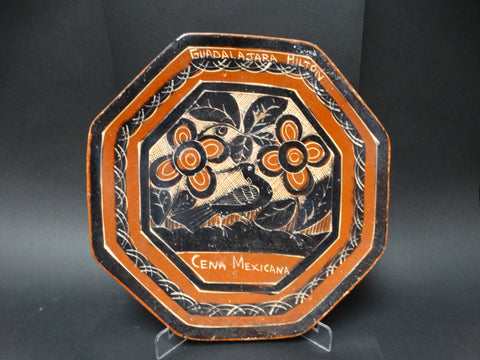 Hexagonal Plate from Guadalajara Hilton 1960s