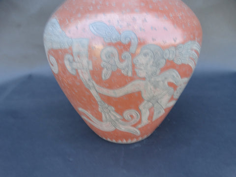 Mexican Burnished Mayan Aztec Vase
