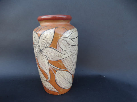 Mexican Burnished Pottery Vase