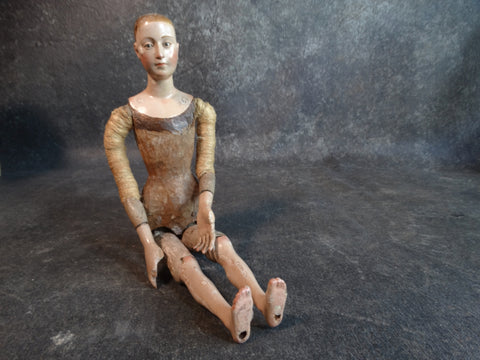 18th Century Seated Santo with Articulated Arms & LegsM2139