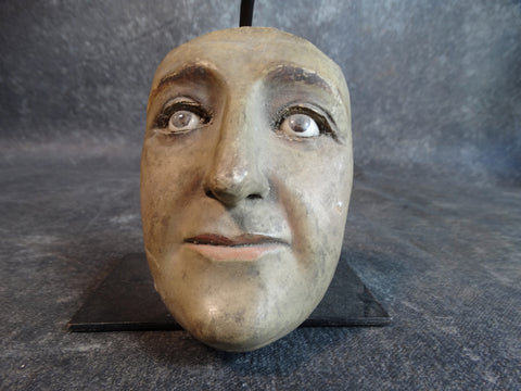 Santo Head Fragment: Face with Glass Eyes M2140
