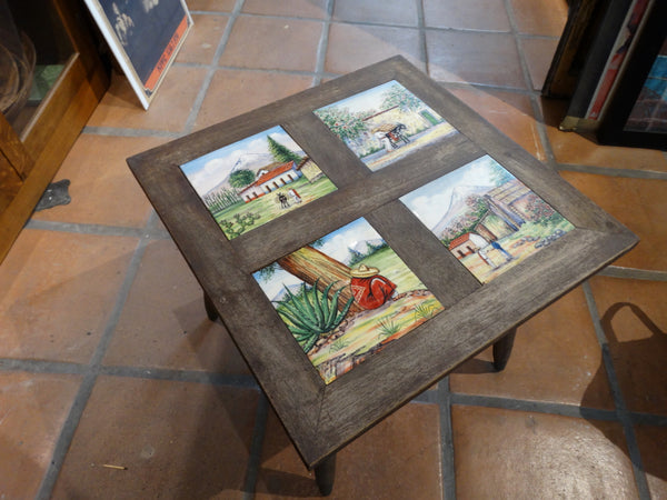Mexican Painted Tile-Top Table 1950s