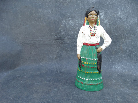 Mexican Pottery Bottle of A Dancer with Her Hand on Her Hip