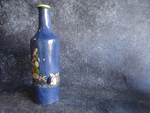 Tlaquepaque Josephine Arias Pale Blue Water Flask or Liquor Bottle c 1930s M2692
