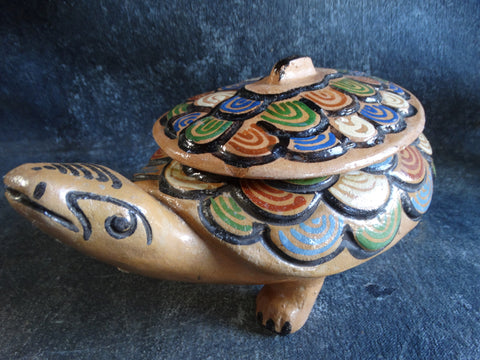 Tlaquepaque Turtle Bean Pot in Tan M2702