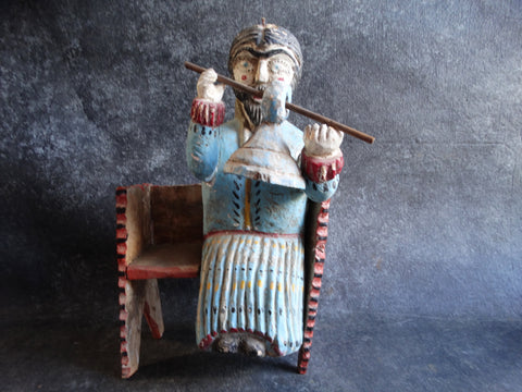 Mexican Folk Art Figure - Man with a Wooden Bell M2725