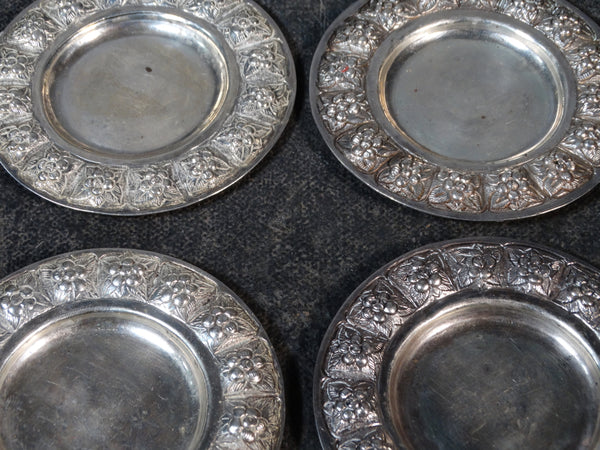 Sanborns Set of 4 Silver Butter Dishes M2772