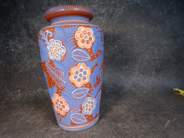 Mexican Tonala Varnished Ware Tall Vase M2817